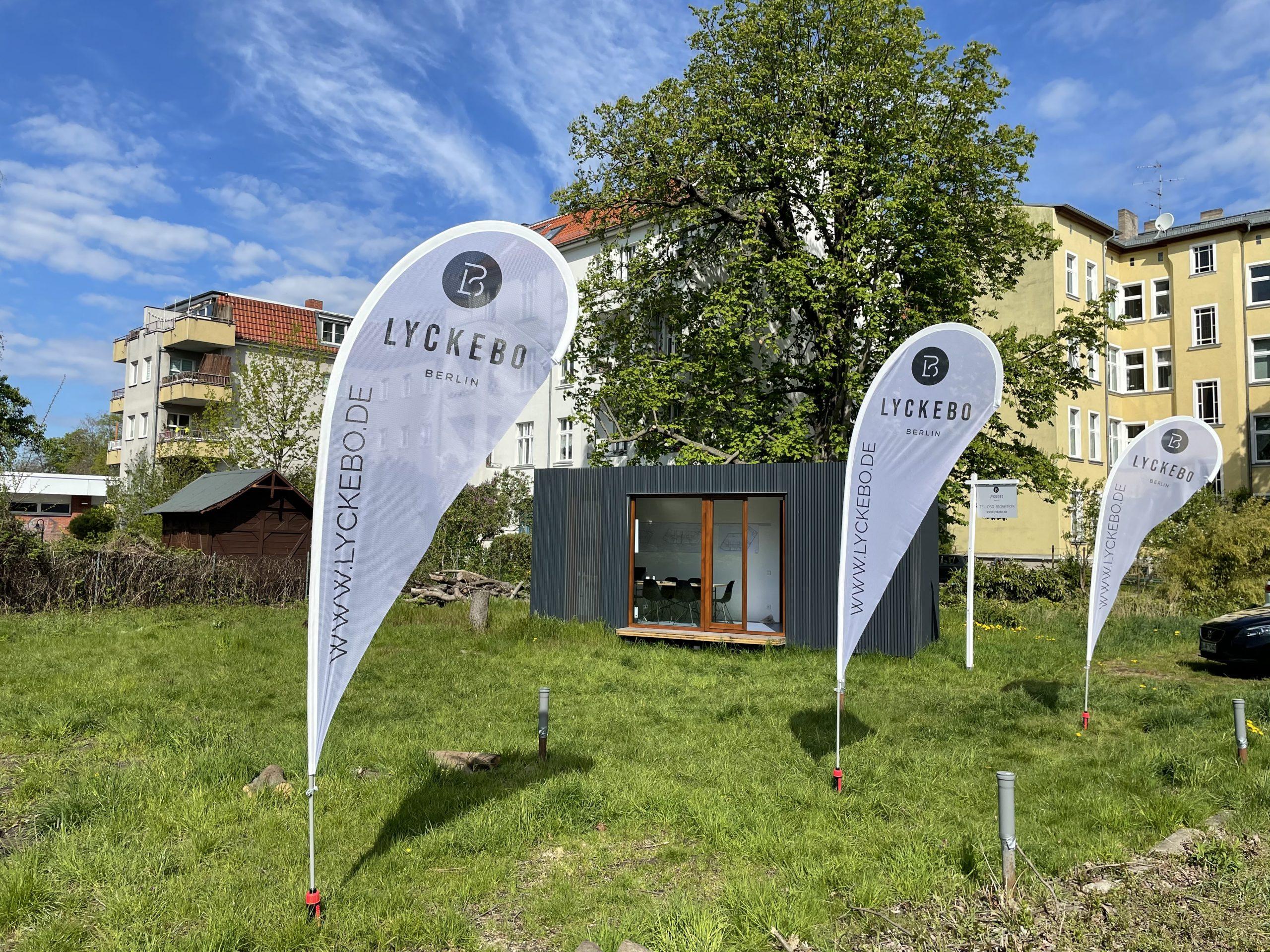 Informationspavillon zum Neubauprojekt LYCKEBO (c) F+S
